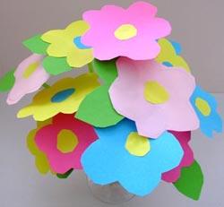 Manualidades Infantiles Ramo De Flores Actividades Para Ninos