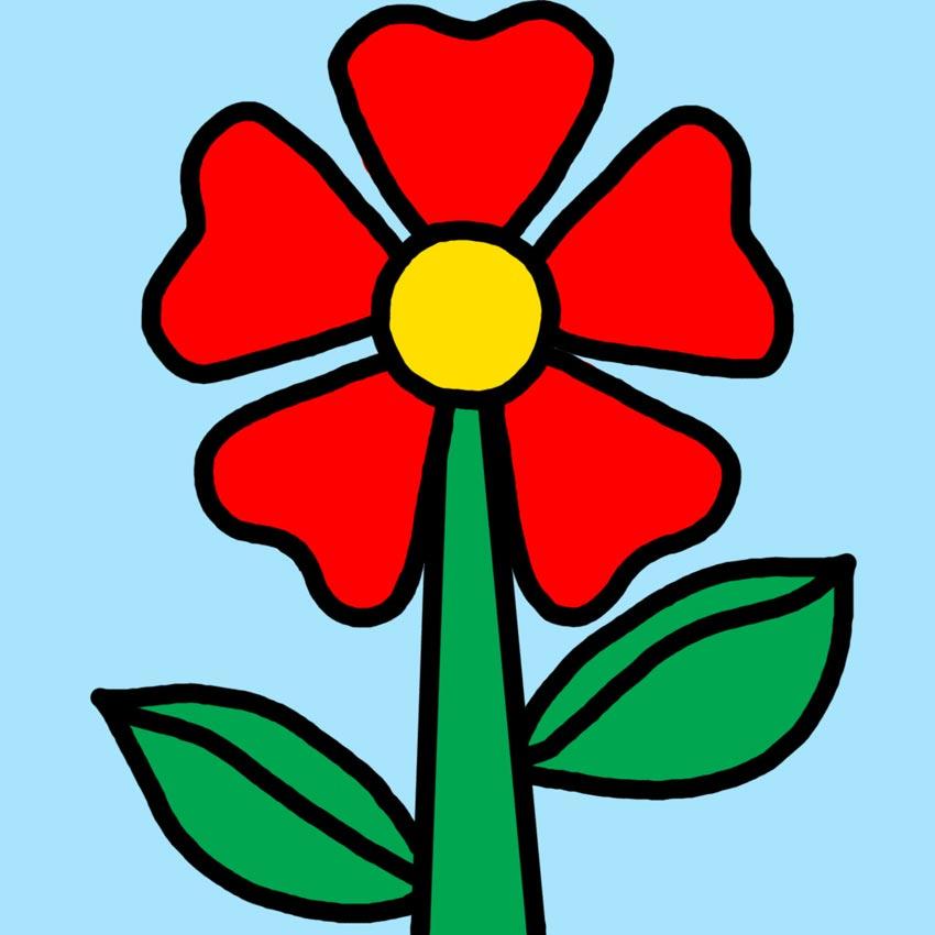 Dibujos de flores dibujos de flores para ni os - Dibujos infantiles de bebes ...