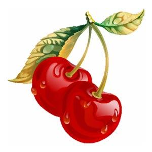 Dibujos infantiles de frutas: cerezas
