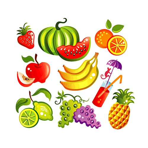 Dibujos de frutas animadas color - Imagui