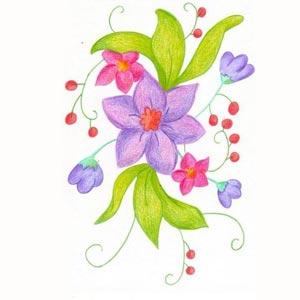 Dibujos de niños de flores