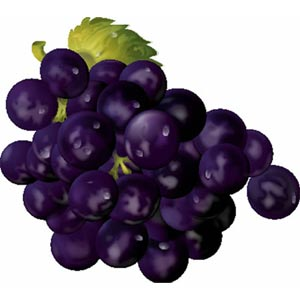 Imágenes de frutas para niños: uvas